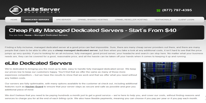 cheap managed dedicated servers